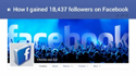 Facebook Marketing How I gained 18437 followers on Facebook Udemy